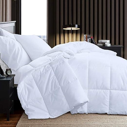 Duvet Insert Quilted Comforter Blanket Hypoallergenic Warm Plush Fiberfill White