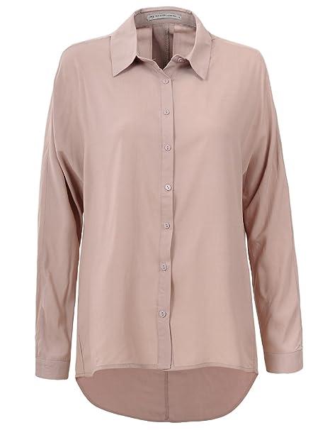 1e3f664b GLOSTORY Women's Casual Button Up Shirts Women Tops and Blouses 3674 (S,  Khaki)