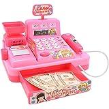 Paraizo レジスターおもちゃ お買い物レジスター お会計 女の子 男の子 (ピンク)