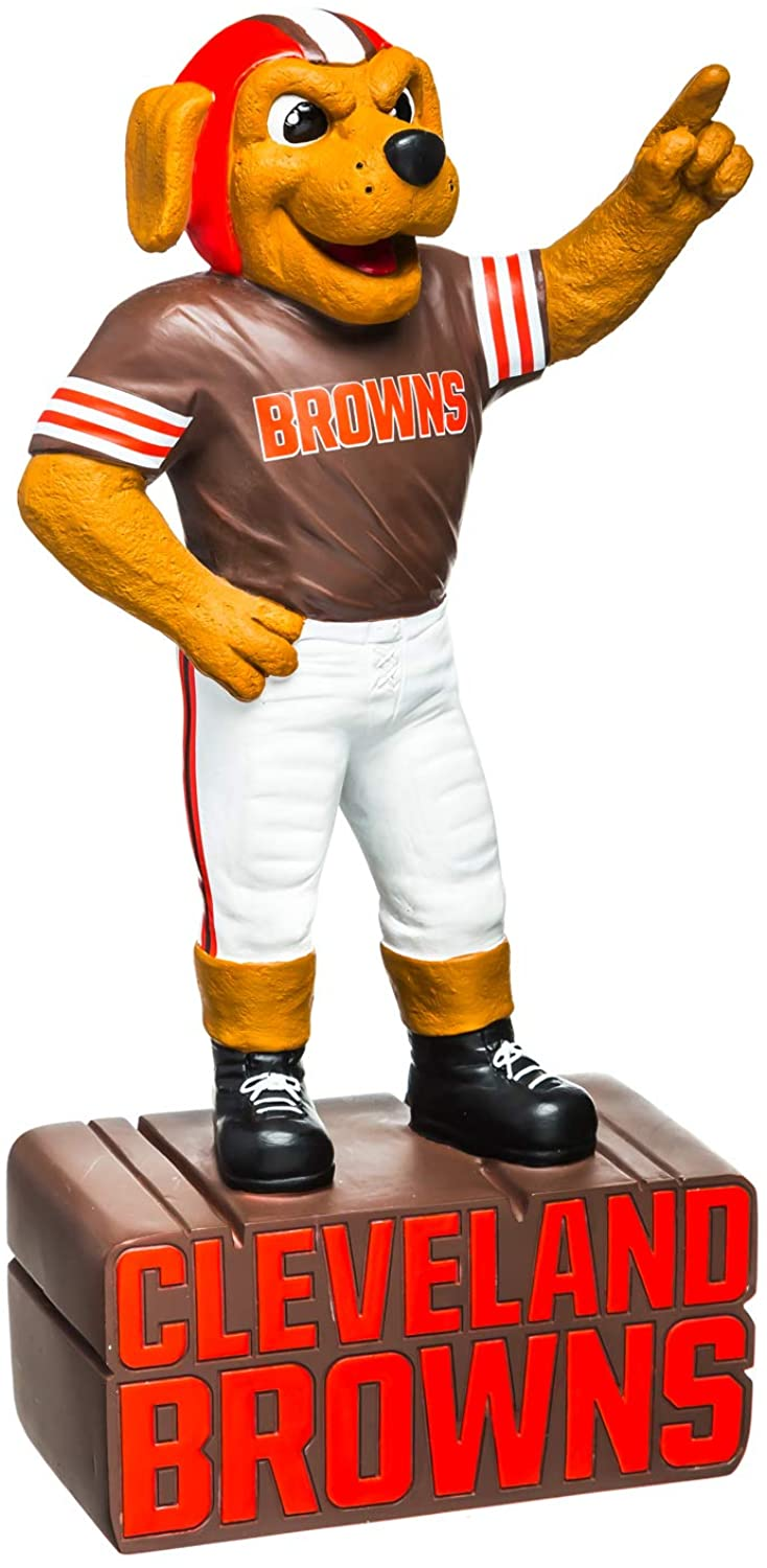 Team Sports America NFL Cleveland Browns Fun Colorful Mascot Statue 12 Inches Tall