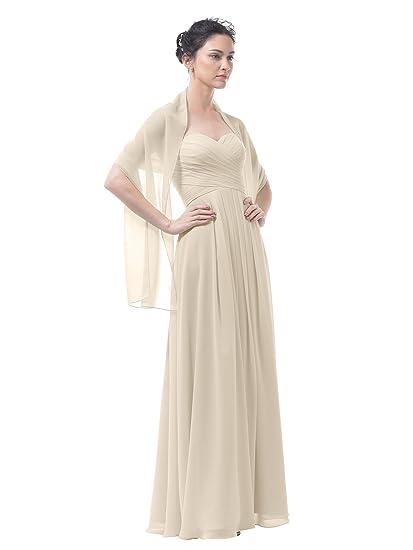Alicepub Chiffon Bridal Shawl Wedding Wrap Stole Women\'s Evening ...