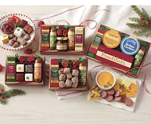 Butter Toffee, Original Beef Log, Cheddar Cheese Sampler Assortment from The Swiss Colony