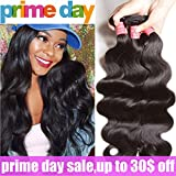 ALI JULIA Hair 8A Grade Malaysian Virgin Body Wave Hair Weft Cheap 100% Unprocessed Human Hair Weave Extensions Natural Black Color 95-100g/pc(14 16 18 Inch)