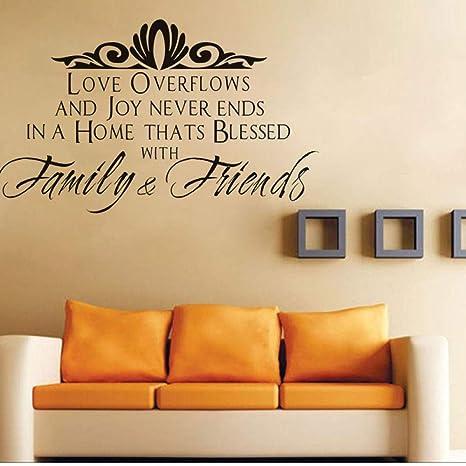 Love Overflows And Joy Vinilo Tatuajes De Pared Cotizaciones ...