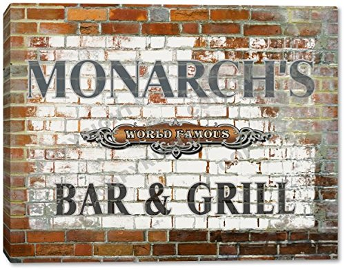 MONARCH'S World Famous Bar & Grill Brick Wall Canvas Print 16