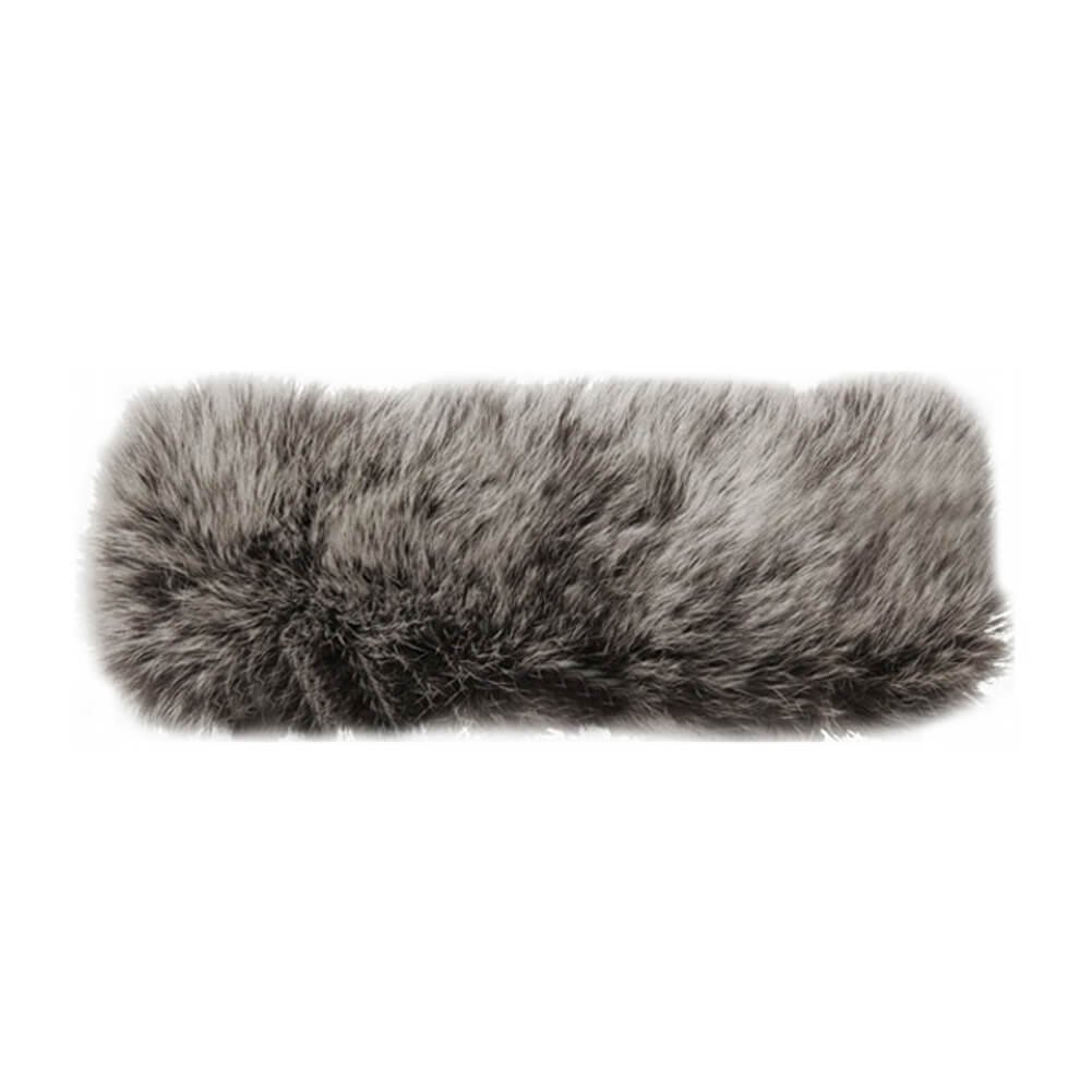 Celtic & Co Womens Toscana Shearling Luxury Headband - One Size - Ebony Snow Tip