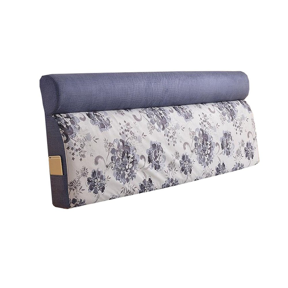 ベッドサイドの厚いクッション三角枕と長い背もたれ取り外し可能で洗濯可能なダブルプロテクションウエストクッション枕を読む (色 : #1, サイズ さいず : 185 * 60 * 12cm) B07DK4XCXP 185*60*12cm|#1 #1 185*60*12cm