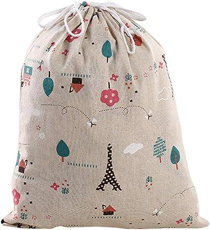 Bledyi Bledyi- 1 Unidades Bolsa de algodón con Cuerdas - Pequeña Saco Bolsas - Bolsa Inserto Organizador para bebé Ropa Juguete pañales - Bolsa de Regalo - 32.5x24.5cm, 24.5x18cm, 16.5x14cm: Amazon.es: Equipaje