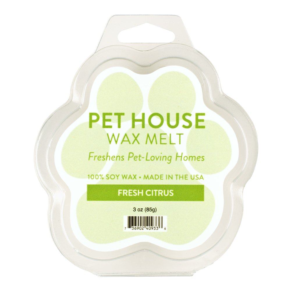 One Fur All Pet House Wax Melts by, Pack of 2 - Fresh Citrus - Long Lasting Pet Odor Eliminating Wax Melts, 100% Natural Soy Wax Melts, Non-Toxic Pet Wax Melts, Dye-Free Unique, Made in USA