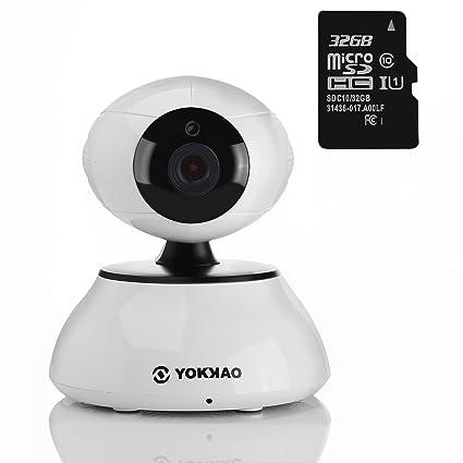 Cámara IP de Seguridad Inalámbrica Yokkao®, Cámara de Vigilancia WIFI 720p HD 5x Zoom