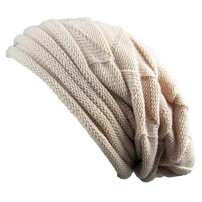 Damen Strickmütze Beanie Häkeln Mütze Elastisch Wintermütze Mit