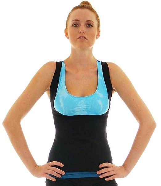 318f494222 Amazon.com   Emolly Compression Womens Shapewear Weight Loss Neoprene Sauna  Tank Top Vest   Sports   Outdoors