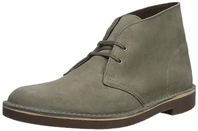 CLARKS Men's Bushacre 2 Chukka Boot, Sage Suede, 10 Medium US