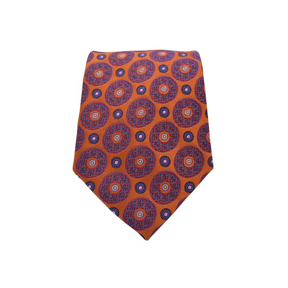 Brothers On The Boulevard Handmade Necktie in Orange