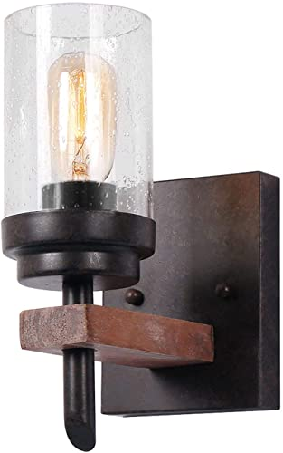 Eumyviv Rustic Wood Wall Sconce