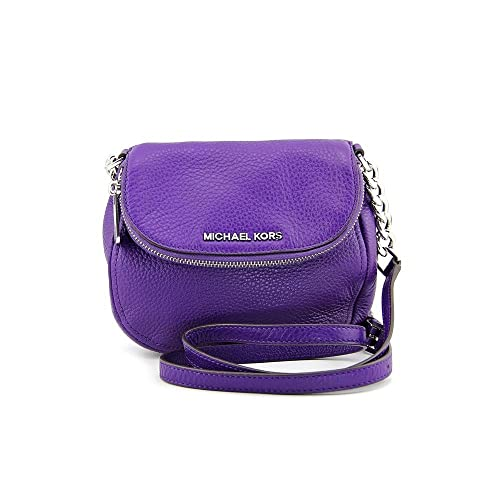 3114911ef45d Image Unavailable. Image not available for. Color  Michael Kors Bedford  Small Leather Flap Crossbody Grape