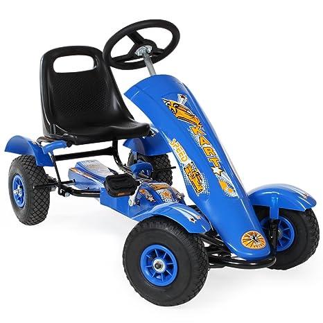 TecTake Go Kart Coche con Pedales - disponible en diferentes colores - (Azul | No