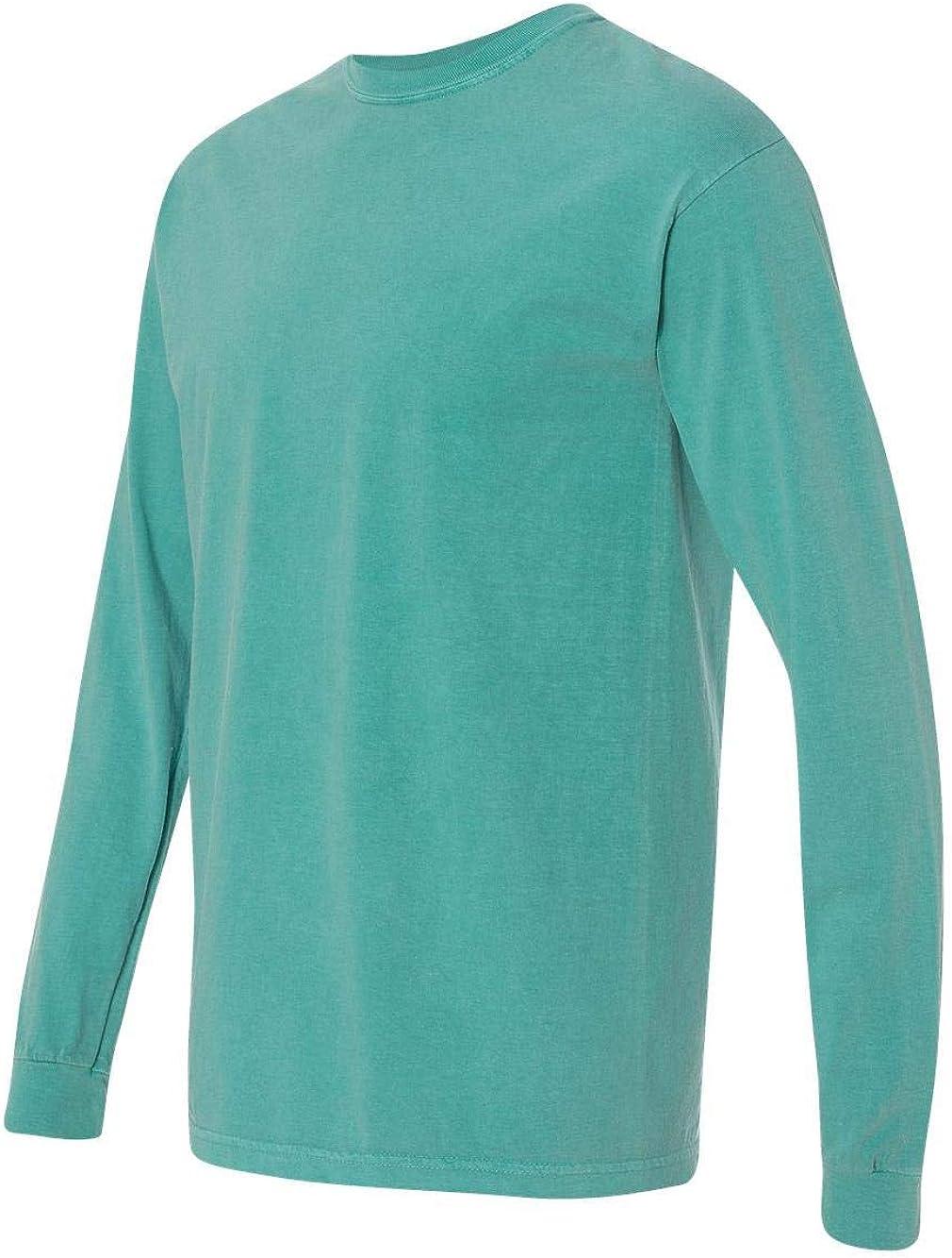 Comfort Colors Ringspun Garment-Dyed Long-Sleeve T-Shirt (C6014)- SEAFOAM, M