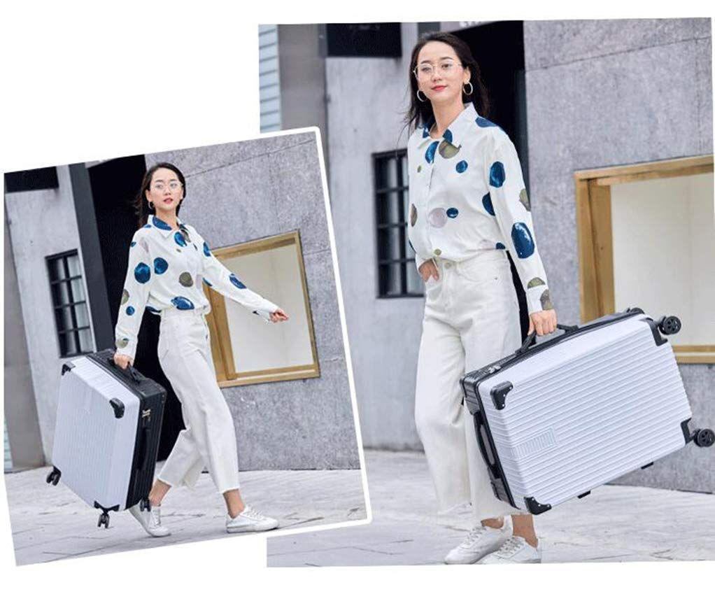 MYYDD Luggage Suitcase with 4 Wheels Vintage Zipper Style 20in 22in 24in 26in Carry on Luggage,A,20