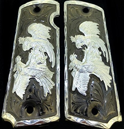 Blanca's Jewelry 1911 Government Commander Gun Grips Rooster Cacha