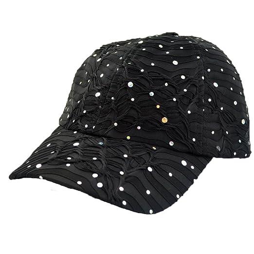 52d387c580e Amazon.com  Something Special Women s Sequin Adjustable Baseball Cap ...