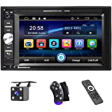 UNITOPSCI Car Multimedia Player - Double Din, Bluetooth Audio and Calling, 6.2 Inch LCD Touchscreen Monitor, MP5 Player…