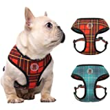 PUPTECK Soft Mesh Dog Harness - No Pull Adjustable Harnesses for French Bulldog - 3M Reflective Outdoor Vest for Dog Easy Con
