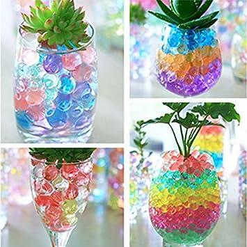Lot de 1200 perles deau LianLe pour d/écoration de vase transparent. Cristal A