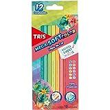 Lápis De Cor Mega Soft Color - Tons Tropicais - 12 Cores - Tris