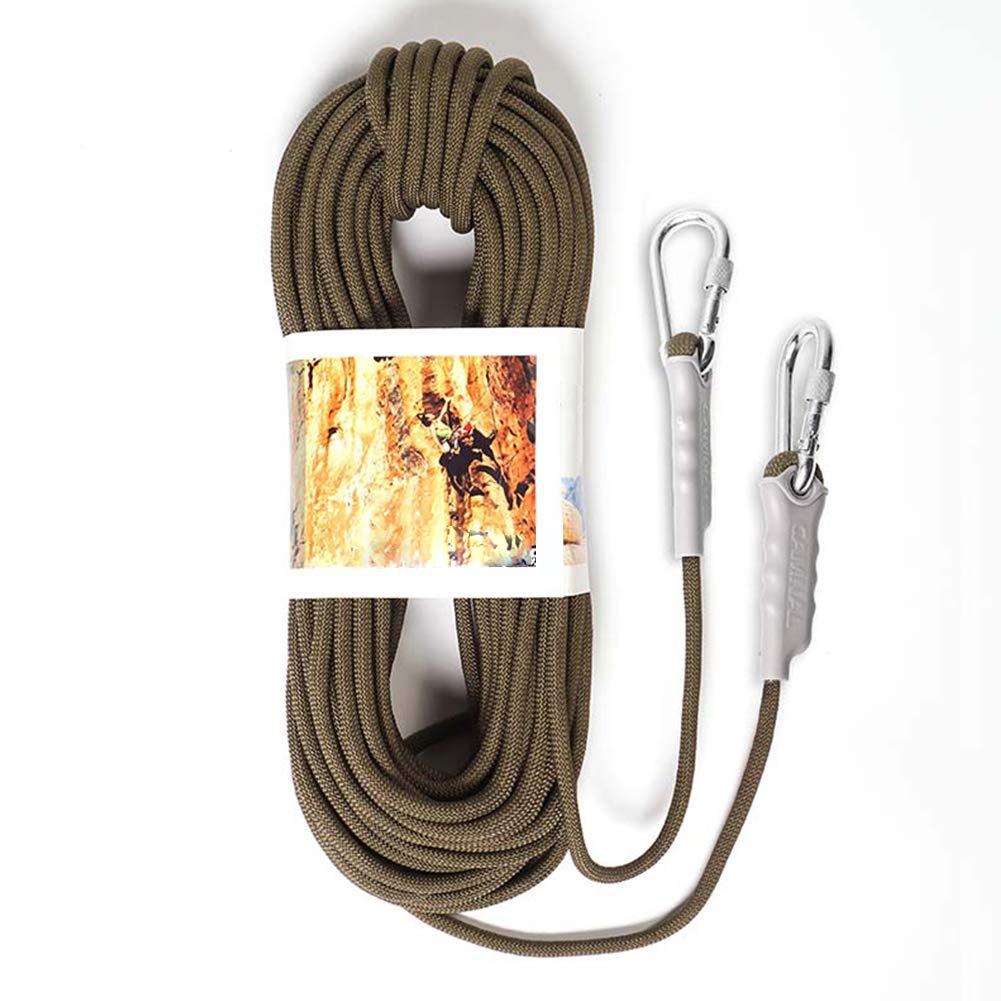 2X Mousqueton azfdxgfc 10m 9.5mm arm/ée Verte Arbre Corde descalade Corde Corde auxiliaire