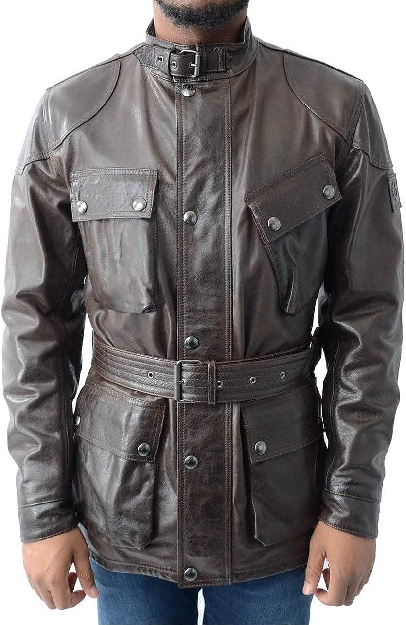 Belstaff The Panther Jacket Black Brown-54