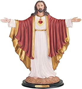 StealStreet SS-G-316.33 Sacred Heart of Jesus Holy Figurine Religious Decoration Decor, 16