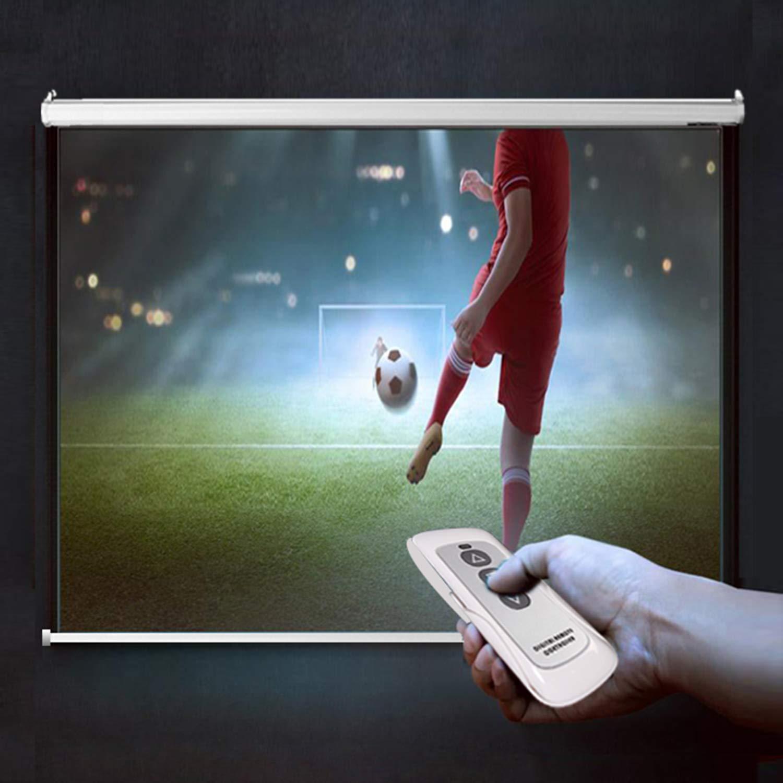 Roulant 16:9 Size:152 x 152 cm CCLIFE /Écran de Projection sans Tr/épied Electrique avec t/élecommande- Taille au Choix /Écran de Projecteur Videoprojecteur 4:3 Home Cin/éma Formats 1:1