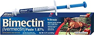 BIMECTIN IVERMECTIN 1.87% Paste Apple Flavored Horse WORMER OTC