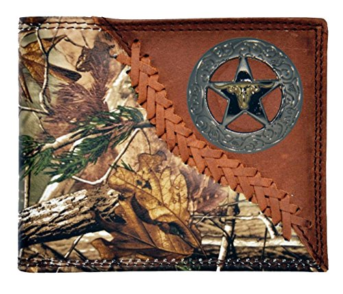 AP Wallet Longhorn Star Badger Long Custom Brown Checkbook New Realtree Camo BPqcP6TH
