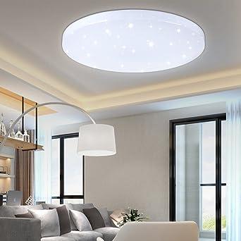 HG® 16W LED Deckenleuchte Deckenlampe Weiß Wandlampe Rund Deckenbeleuchtung  Wohnraum Wand Deckenleuchte Esszimmer Lampe