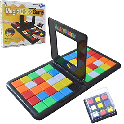ChenLee Magic Block Game Parent-Child Activity Double Speed Game Kids Educational Toys 3D Cube Puzzle Blocks Interactive Race Board Game Gift Family for Kids Adults: Toys & Games