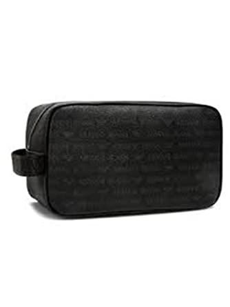 7f2b908a37ce Armani Jeans Logo Wash Bag One Size Black  Amazon.co.uk  Clothing