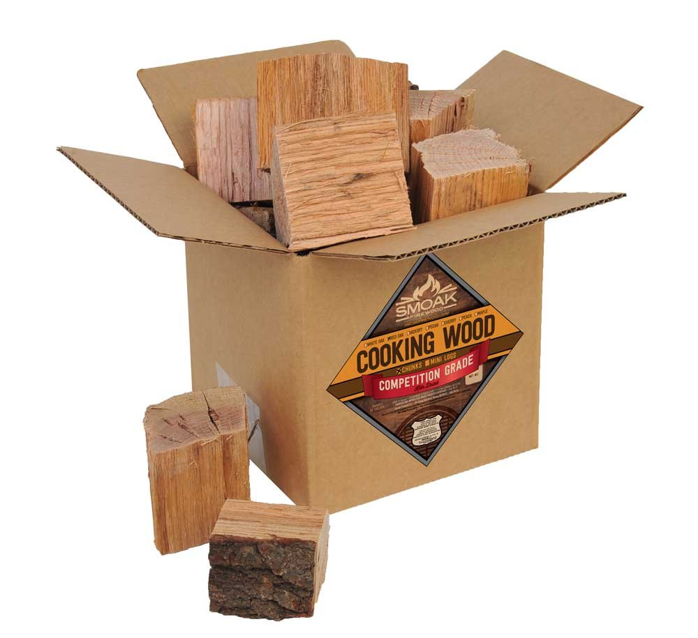 Smoak Firewood Cooking Wood Chunks - USDA Certified Kiln Dried (Red Oak, 8-10 lbs)