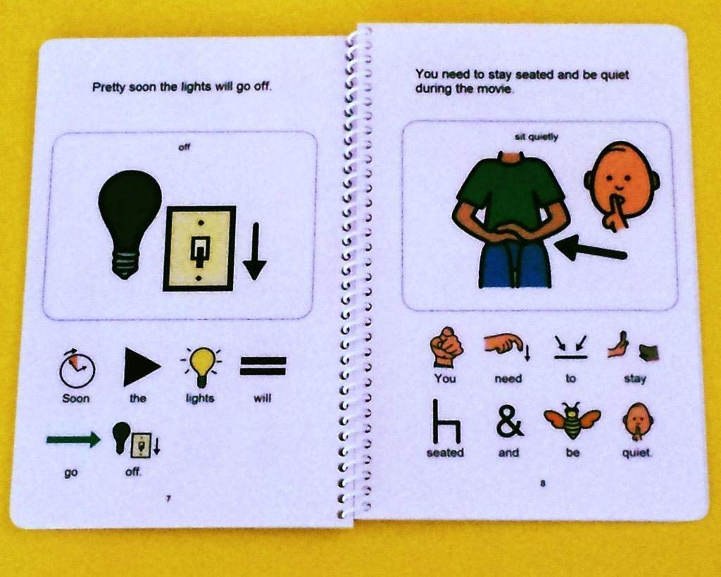 Movie Theater Autism Social Story PECS Visual Aid Learning Book Going to a Movie