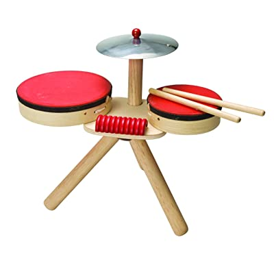 PlanToys Wooden Musical Band Toy Percussion Instrument (6410) | Sustainably Made from Rubberwood and Non-Toxic Paints and Dyes: Toys & Games