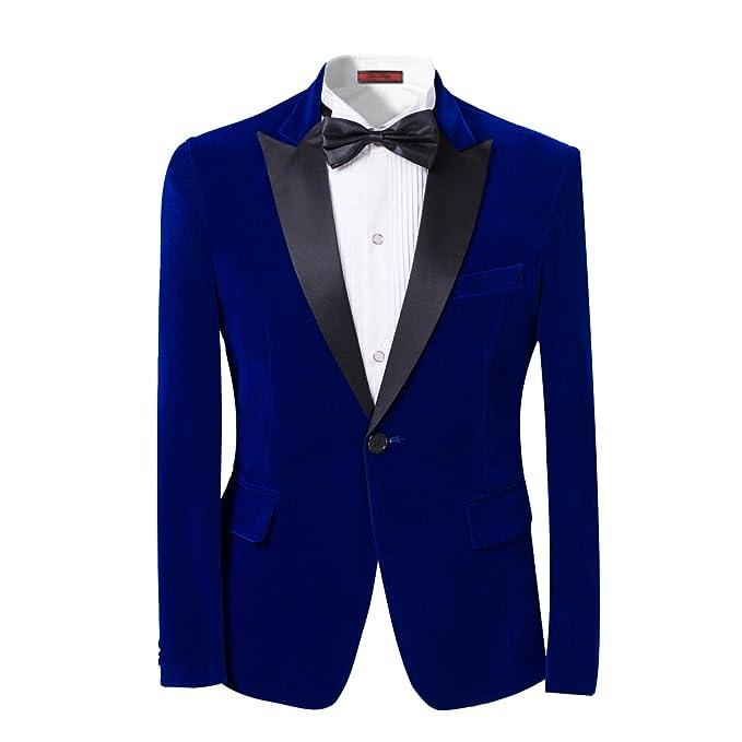 c09fe66d6 Mens Suits 2 Piece Suit Slim Fit Wedding Suit Velvet Casual Blazer  One-Button Blazer Tuxedo Jackets Trousers