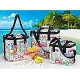"Be Cool""Aloha"" Polyester Mini Cool Box"