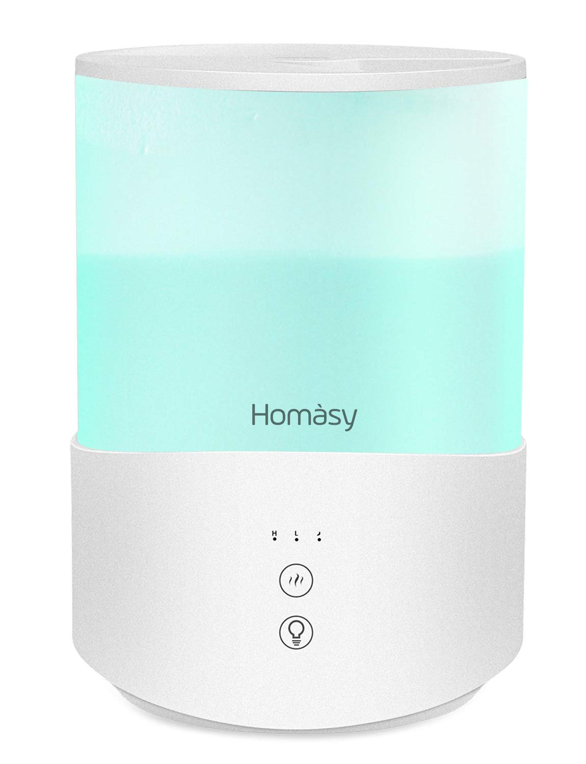 Homasy Cool Mist Humidifier Diffuser, 2.5L Essential Oil Diffuser with 7-Color Mood Lights, Top Fill Humidifier for Bedroom, Baby Humidifier with Adjustable Mist Output, Sleep Mode, Auto Shut Off by Homasy