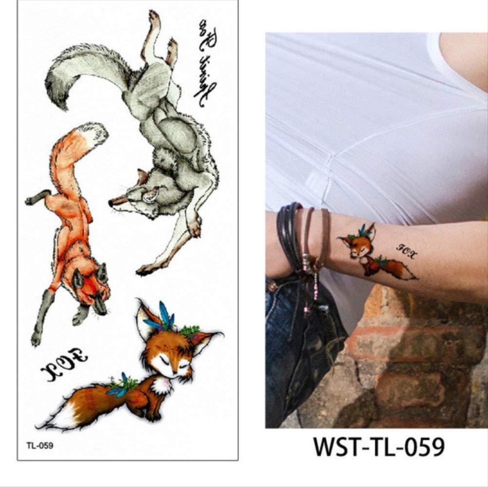 yyyDL Animal Body Tattoo Sticker Decal Fox Tiger Image DIY Body ...