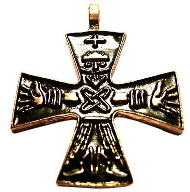 Odins Cross Pendant Necklace Gold Amazoncouk Jewellery