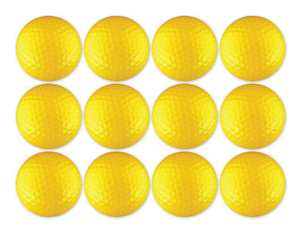 ゴルフボール12パックカラフルな空白 B072QLM317 イエロー