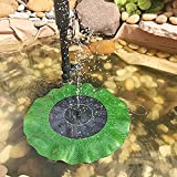 V-Best Solar Fountain Pump for Bird Bath,Small Water Fountain Pump, SOONHUA Floating Outdoor Solar Powered Panel Kit for Garden,Pool,Pond,Patio Decoration&Watering,Free Standing,1.4W(Lotus leaf)