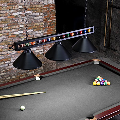 "Pool Table Light Black: Chende 59"" Hanging Pool Table Light Fixture For Game Room"