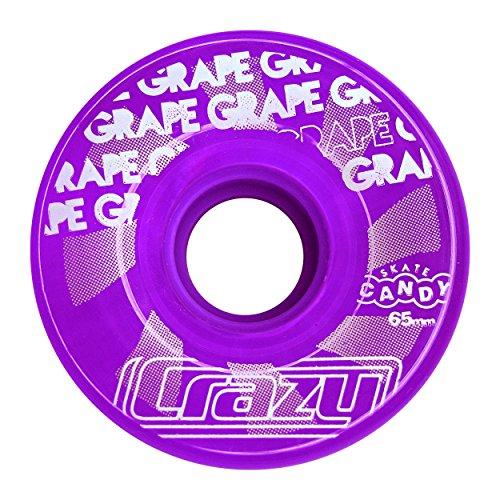 Crazy Skates Wheel Candy Outdoor Roller Skate Wheels (4 Pack) 65x35mm - 78a (Purple Grape)